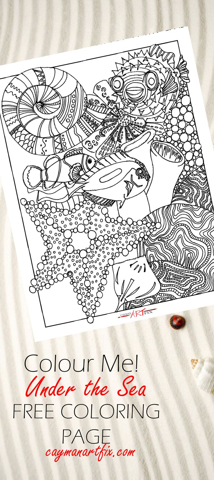 Make it come to life! #coloringpages #adultcoloringbooks #Downloads #Print #color #crayons #markers #arttherapy #IslandLife #islandart