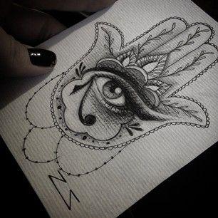 hamsa draw tattoo - Pesquisa Google