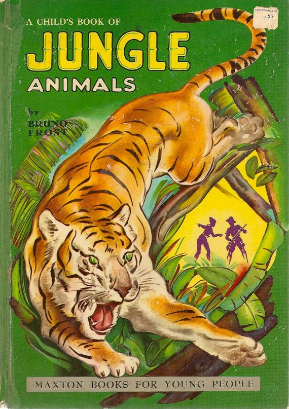 VINTAGE KIDS BOOK A Child's Book of Jungle Animals by Bruno Frost