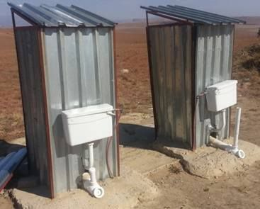 Only in South Africa...and which BEE company won the tender I wonder... At least if the person ahead of you is taking too long...you can flush them out from outside...What a sad state of affairs..