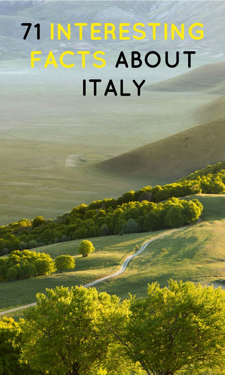 These facts about Italy are sure to surprise you!