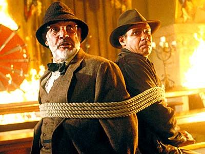 Sean Connery and Harrison Ford in Indiana Jones and the Last Crusade
