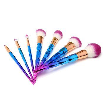6pcs Gorgeous Handle Makeup Brushes Cosmetic Tools Loose Powder Blush Hightlight Shading Blend Lip at Banggood