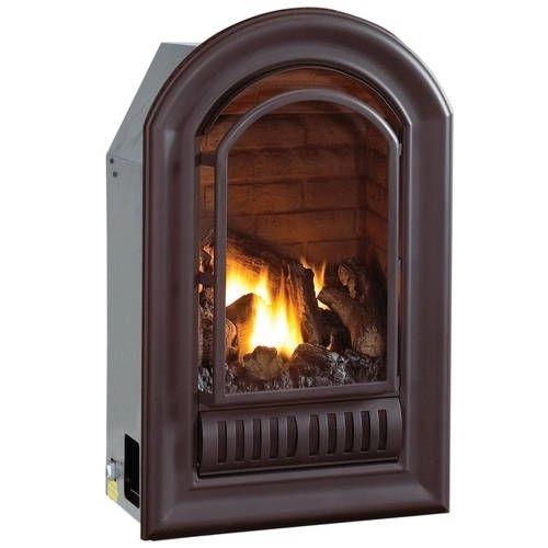 HearthSense A-Series Natural Gas Ventless Fireplace Insert - 20,000 BTU, Millivolt Control, Model ANI, White
