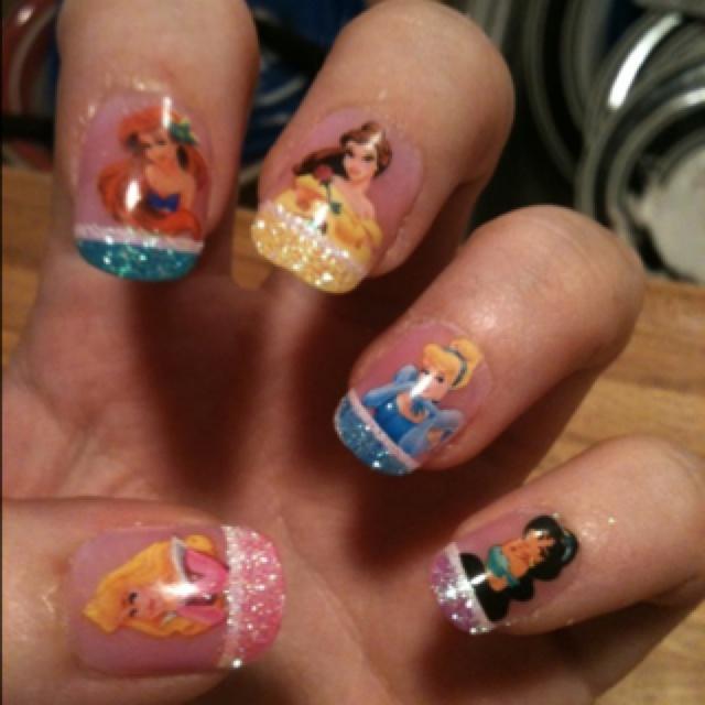 Disney Princess Nails: 35 Best Images About Nails On Pinterest