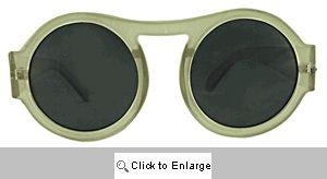Riley Big Round Retro Sunglasses - 321 White