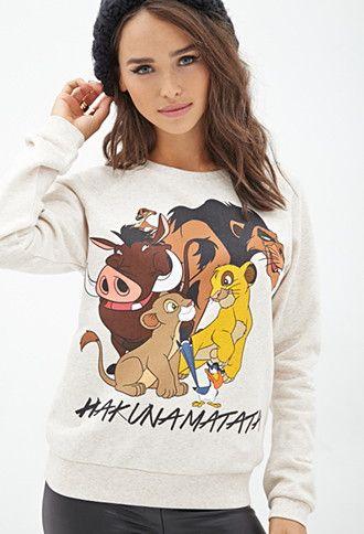 Lion King Graphic Sweatshirt   Forever 21 - 2000101049