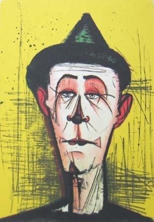 Litografia - Bernard Buffet -  un clown blanc
