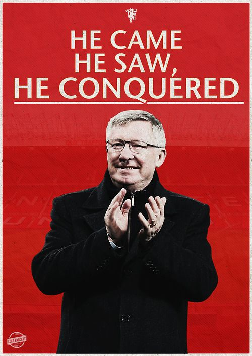He came to this club before I was born and he did the impossible and set the bar very high. In 26 years he won 38 trophies and his final day as a manager in 2013 was so emotional. I miss him everytime and he was and will be the best manager ever on earth.i#nFergiewetrust.