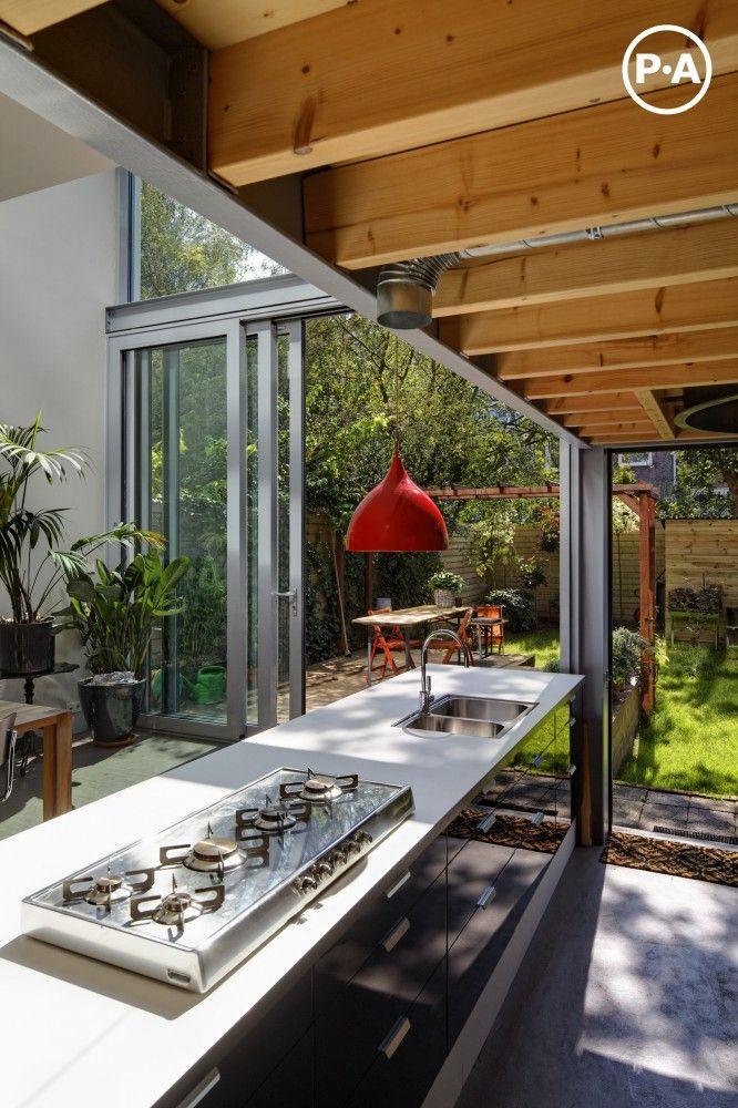Love the glass windows #kitchen #design cabinets, island, countertops,  kitchen accessories,  #modular handles, flooring, backsplash,  open plan, tiles, # cucine breakfast counter, built-in appliances #interior design