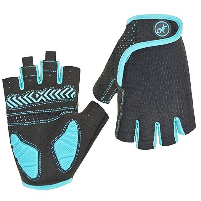 Huwaih Bike Gloves Gel Pad Shock Absorbing Anti Slip Outdoor