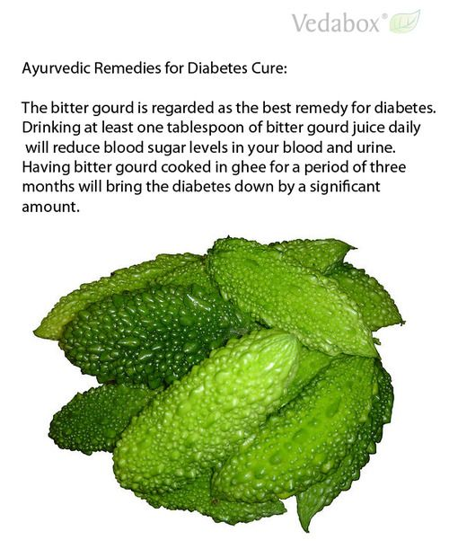 Ayurvedic Remedies for Diabetes Cure:The bitter gourd is regarded as the best remedy for diabetes. Drinking at least one tablespoon of bitte...