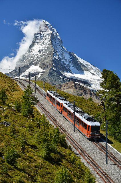 "Matterhorn, Switzerland - The ""Matterhorn"" is one of the world's most famous mountain. The first men who managed to climb to the top of this mountain was a group of seven mountaineers led by Edward Whymper from Great Britain on July 14, 1865. Four of the seven men died on the way back. It is unknown who named this mountain ""Matterhorn"" or where the name comes from, but there are many families in this valley named ""Matter""."
