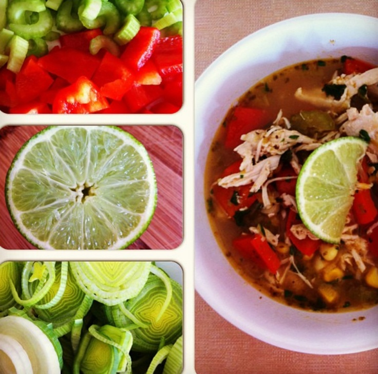 Rishhilman Instagrams a gorgeous collage of our Cilantro-Lime Chicken Soup!