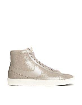Nike+Blazer+Mid+Premium+Leather+Beige+Trainers