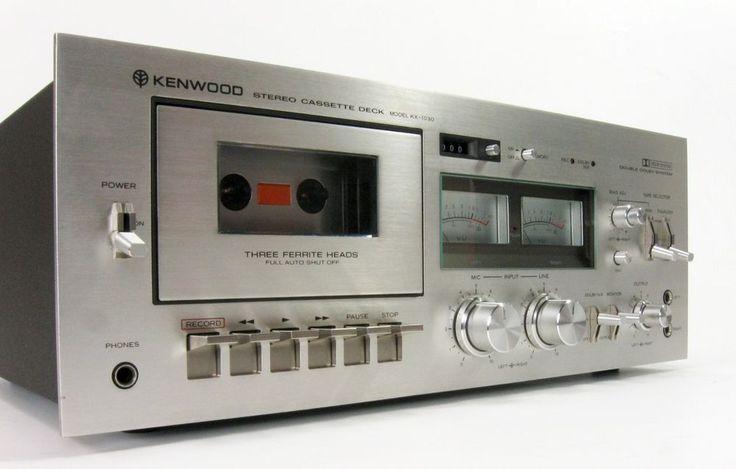 Details About Vintage Kenwood Stereo 3 Head Cassette Deck Player Recorder Kx