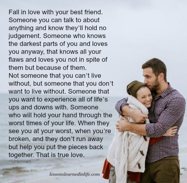 Lessons Learned in Life | That is true love.