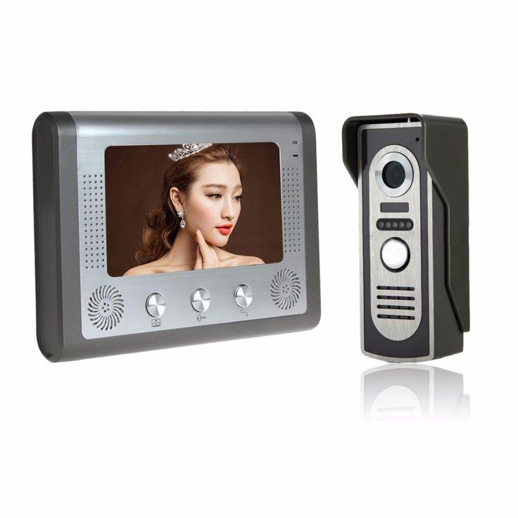 """7"""" Color Video Door Phone Video Intercom Door Intercom Doorphone IR Night Vision Camera Doorbell Kit for Apartment"""