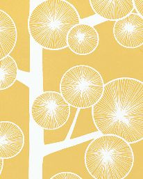 Tapet Cotton Tree Buttercup Yellow från MissPrint