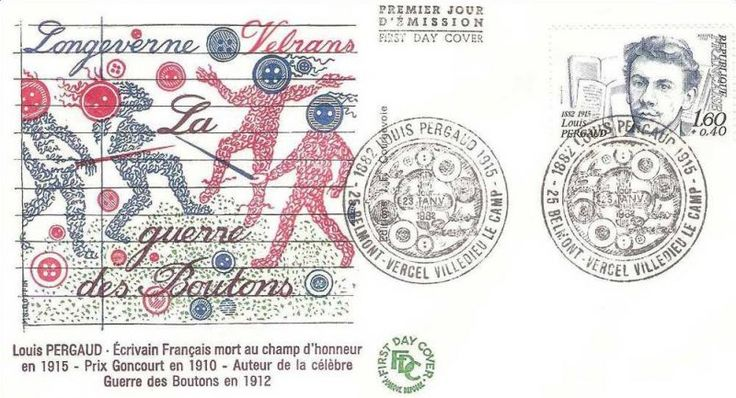 Timbre : 1982 Louis PERGAUD 1882-1915 | WikiTimbres