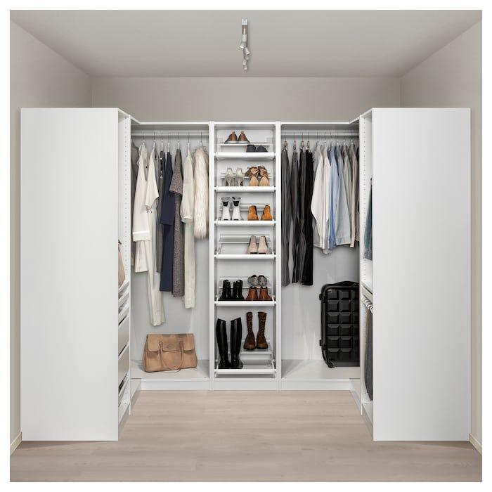 Pax Armoire D Angle Blanc 160 271 160x201 Cm Ikea Pax Corner Wardrobe Corner Wardrobe Pax Wardrobe