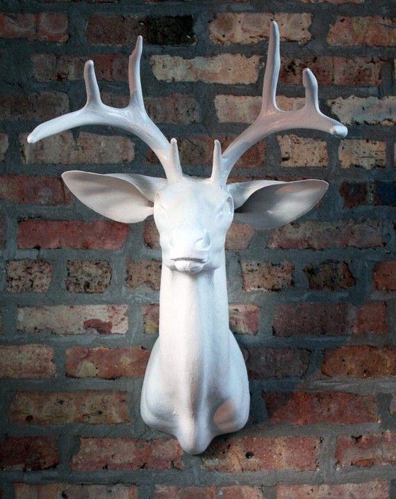 White Deer Head Wall Decor 167 best deer images on pinterest   animals, deer and paintings