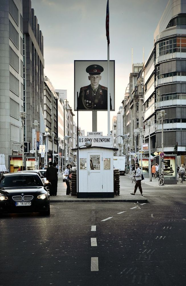 Checkpoint Charlie  - Berlin, Germany. Site of major standoffs between West and East throughout cold war.