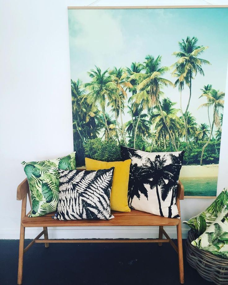 PARADISE | inside here at T&M. New large 'Palms' wall hanging available now. The only one...so be quick to not miss out. Ph: 0427975275 #art #home #twigandmoss #niceshop