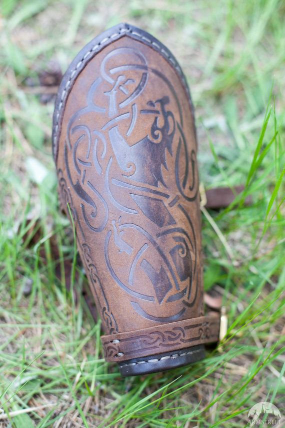These lightweight leather bracers are good for both men and women.  However we made them as a part of our Shieldmaiden collection focusing on armor which will be comfortable for women. These bracers are lightweight and will be good for swift fighter. They are decorated with embossed image and bordered with the leather trim.  Bracers are stitched with artificial tendons which makes their look even more authentic and construction even more reliable.  Please let us know your measurements…