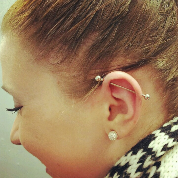 Industrial Piercing getting this redone tomorrow too! | Body ...