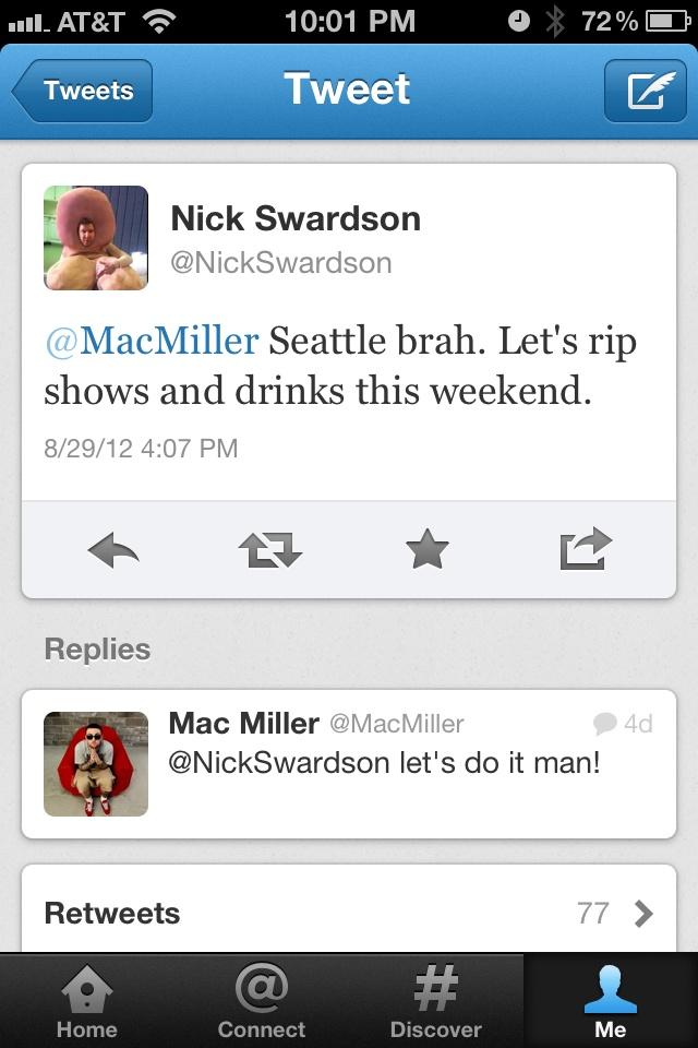 Nick Swardson & Mac Miller :D