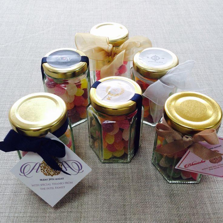 @Revadesigns Miniature Glass Wedding Favour Jars