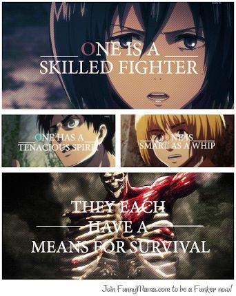 Eren Mikasa Armin Quotes Attack on Titan