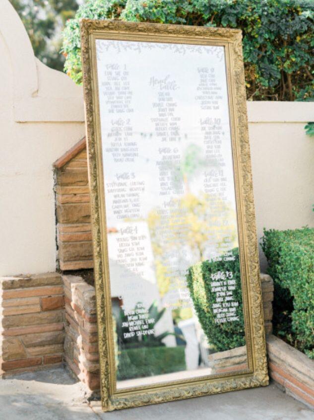 Mirror seating chart by laurenish design