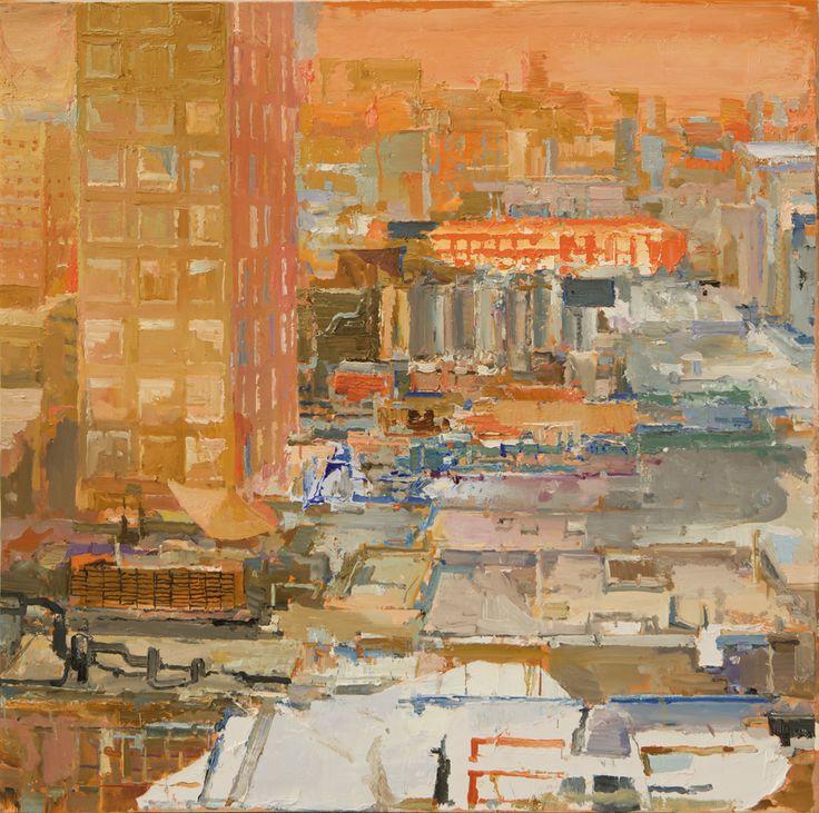 VElasco Vitali   SUNSET (detail), 2006. Oil on canvas, 100 x 100 cm