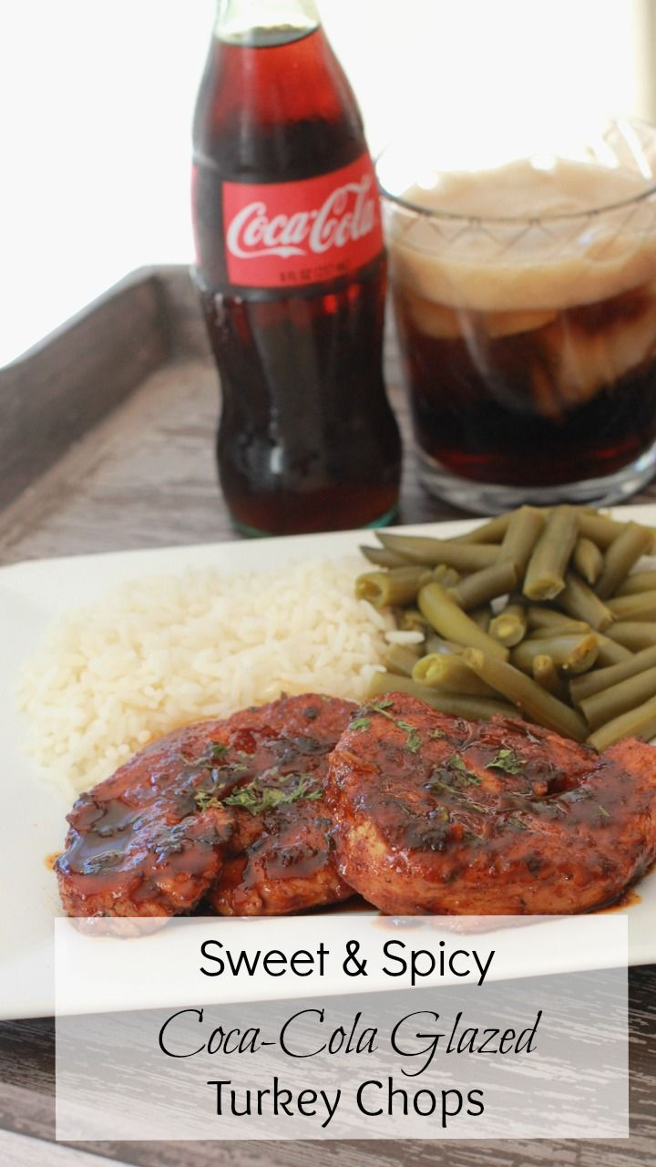Want something a little less traditional for Thanksgiving? Sweet & Spicy Coca-Cola Glazed  Turkey Chops! #divascancook #coca-cola #spon