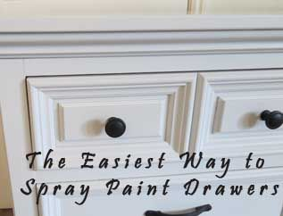 Whether you are using spray paint to paint your furniture piece or an actual paint sprayer, spraying drawers can be difficult to do. If you pull the drawers out, then you will need to mask the entire drawer, except the drawer front. Then, you will also have the added problem …