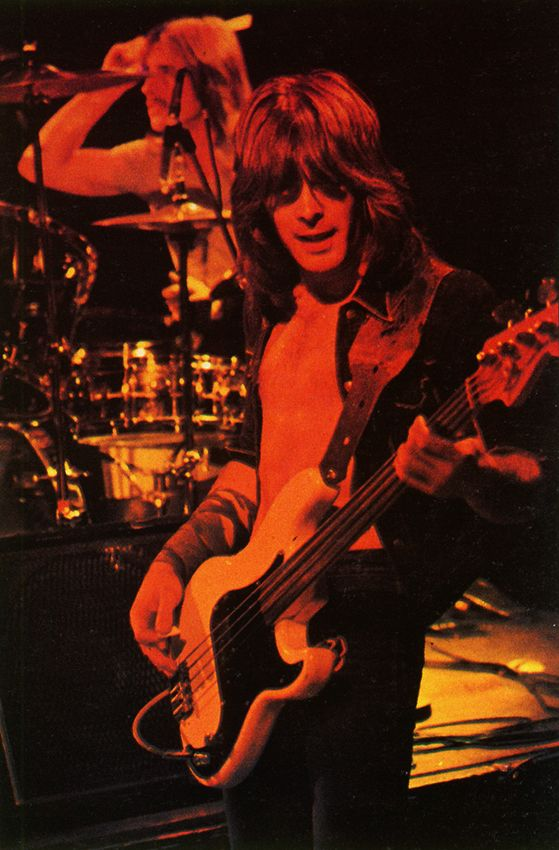 AC/DC's Phil Rudd and Cliff Williams onstage in 1977
