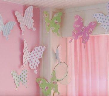 Lindas mariposas de papel - Manualidades para decorar ~ Un Mundo de Manualidades