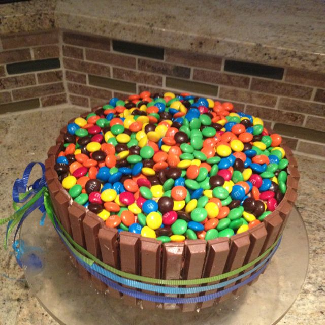 My 9 year old daughter and I made this for her upcoming birthday party! Inside is three tiers of chocolate and vanilla cake as well as chocolate and vanilla frosting! It was such a fun project to do together! And she is so proud and excited to serve it to her friends!