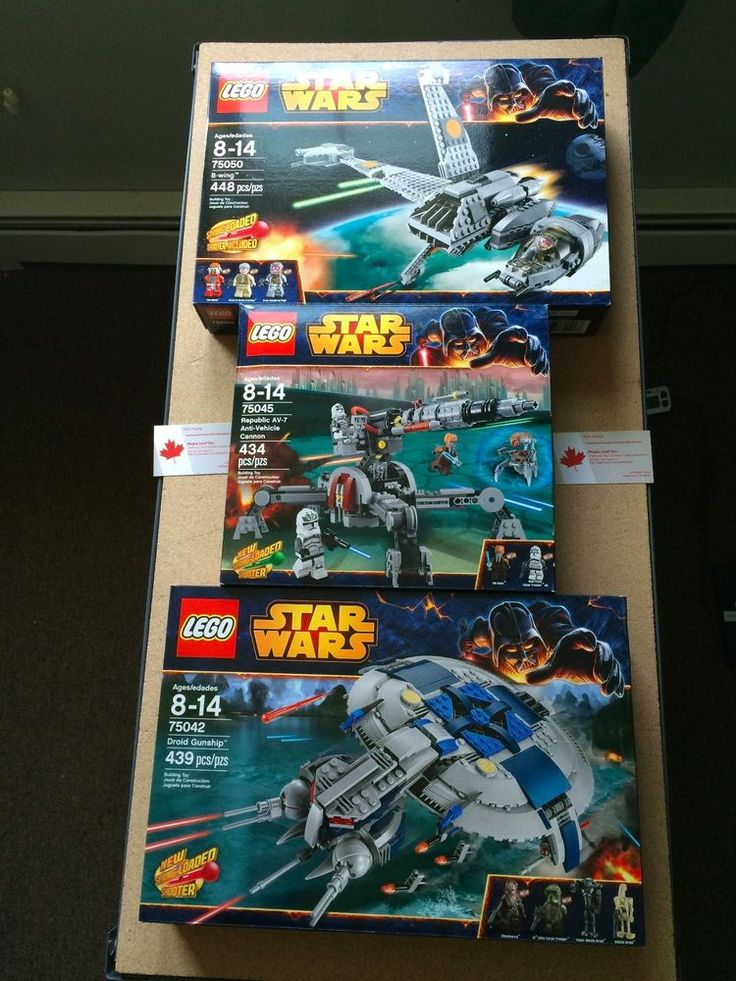 Lot of Three Star Wars LEGO Building Sets 2014 Retired 75042, 75045, 75050 #LEGO