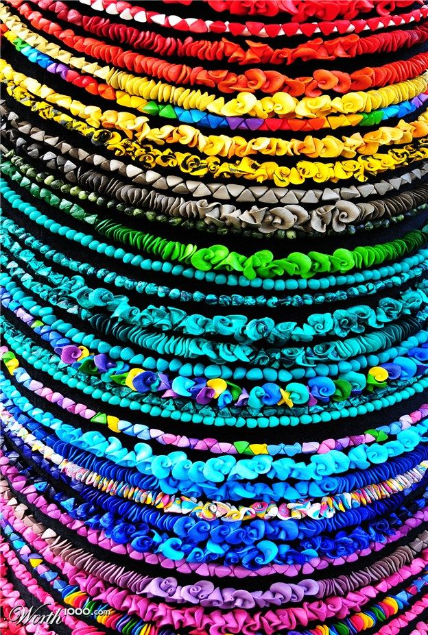 Rainbow necklaces by ChrisYVionnet - Fill the Frame 2012 - Worth1000 Contests