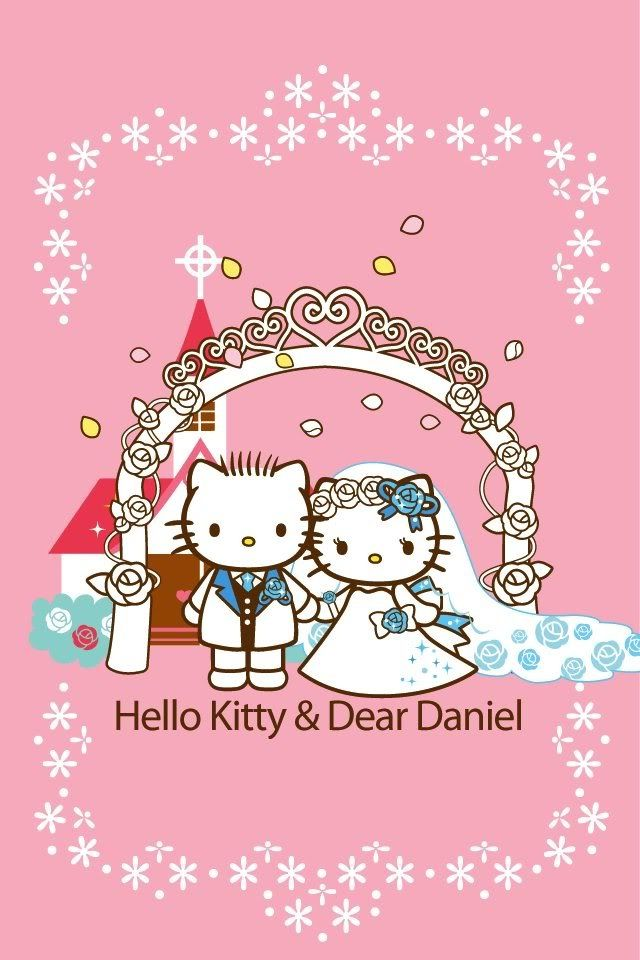 Hello Kitty And Dear Daniel Wedding Coloring Pages