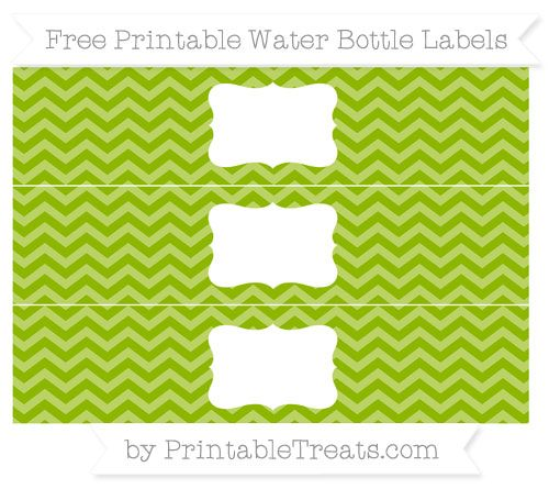 Free Apple Green Chevron Water Bottle Labels