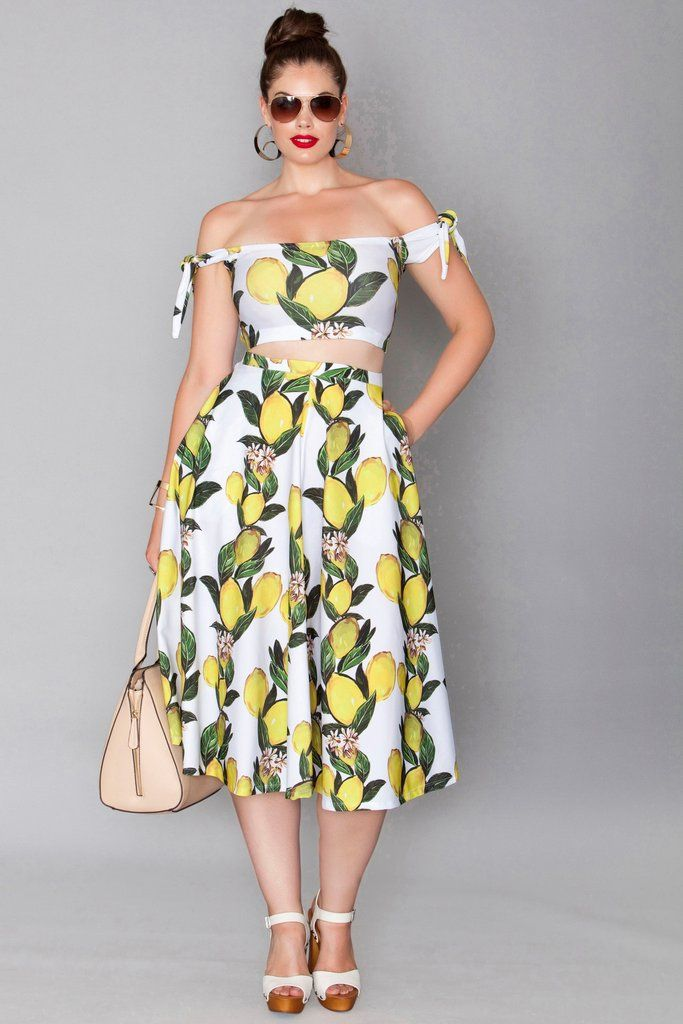 Cooper Skirt and Matching Top in White Lemon from Rue 107.
