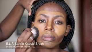 contouring and highlighting for black women - YouTube