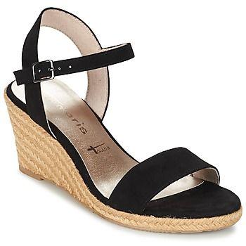 Als we dit model vergelijken met andere open schoenen, dan is dit een echt modejuweeltje. Tamaris heeft een versie ontworpen in de kleur zwart, heel trendy dit seizoen. Het merk heeft weer een prachtige creatie op zijn naam staan, de Cara. Deze textielen open schoen is voorzien van een synthetische zool. Je voeten genieten van het comfort dankzij de textielen binnenvoering en de synthetische binnenzool. Dankzij de hoge hak zie je de wereld van bovenaf! - Kleur : Zwart - Schoenen Dames €…