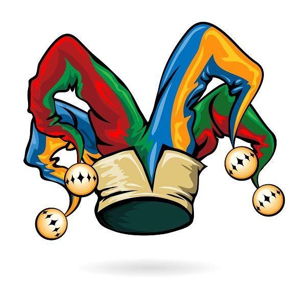 Colored Vector Jester Hat Jester Hat Jester Tattoo Joker Hat