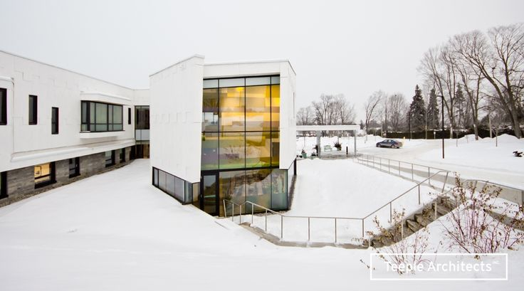 Sisters of St. Joseph Residence   Teeple Architects   Product: Equitone Fibre Cement   #brilliantbuildings #winter #snow #architectural #beauty