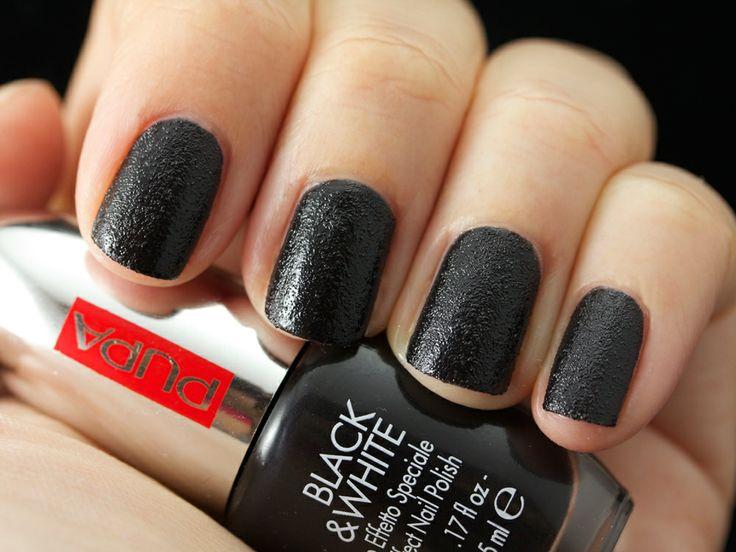LASTING COLOR BLACK & WHITE 005 #SandyMatt Black  #preview #naillook #smalto